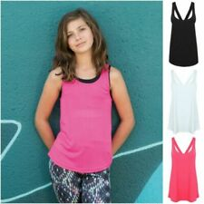 Girls' Scoop Neck Sleeveless T-Shirts, Tops & Shirts for Girls