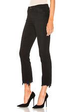 NWT AG Adriano Goldschmied Jodi Crop High Rise Raw Hem Slim Flare Jeans Black ST