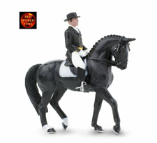DRESSAGE RIDER + HORSE - JAMES ON DANCING BELLS TOY MODEL by SAFARI LTD 151105