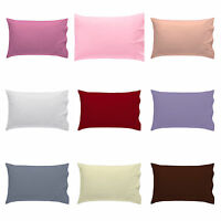 2 X PILLOW CASE LUXURY POLYCOTTON HOUSEWIFE PAIR PACK BEDROOM PILLOW COVER