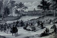 Vue du JARDIN d'ACCLIMATATION à PARIS en 1855 sous le règne de NAPOLEON III
