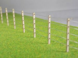 Post & Wire 5ft Lineside Fencing O gauge 1:43 fence kit - 64 posts + 10m of wire