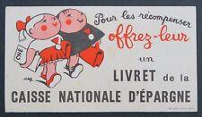 BUVARD Livret de la Caisse Nationale d'Epargne blotter Löscher