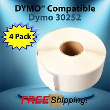 4 Paper Rolls 30252 Dymo® 4XL Compatible Thermal Rectangular 350 Labels BPA Free
