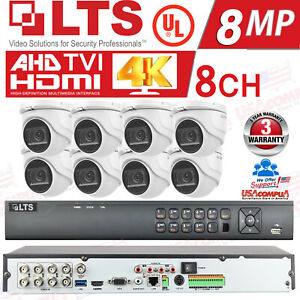 LTS 8ch Security Cameras System Kit 8MP DOME H.265+ 4K /HDD Included / IP67 UL