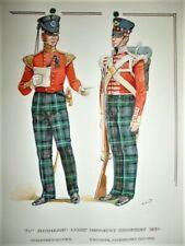 Original Watercolour, 71st Highland Qtr Master & Private, Charles C. Stadden