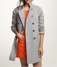 NEW JCREW MACKINTOSH ROUSAY TRENCH COAT IN GINGHAM XL BLACK IVORY 39829 RARE!