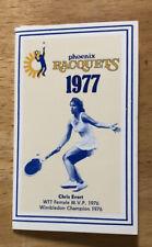 RARE 1977 Phoenix Racquets WTT World Team Tennis Pocket Schedule Chris Evert