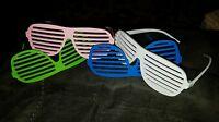 LOT (4) Sunglasses Shutter Shades Vintage Glasses Retro Club Party Max Headroom