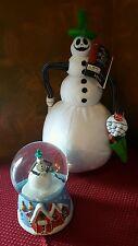 Disney's Nightmare before Christmas Jack Snowman snowglobe & Animated plush