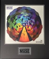 MUSE Signed Album Cover By All 3, Mounted, With JSA COA.