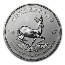 2017 1 Once d'argent pur 999 / South Africa 1 Oz KRUGERRAND 2017 Fine Silver BU