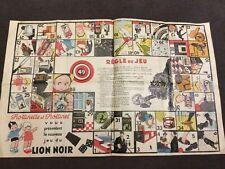 jeu de l'oie LION NOIR ,CROMA TEINTURE Frottinette et Frottinet