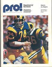 New York Giants Philadelphia Eagles 11/16/75 PRO! NFL Game Program..Merlin Olsen