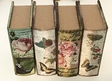 Decorative Floral Book Boxes - Small - Set of 4