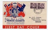 Australia PRINCESS ELIZABETH 1947 FDC CALIFORNIA GULLY VIC postmark