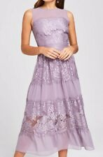 Little Mistress Womens Midi Dress, Size 12, Lavender, New With Tags