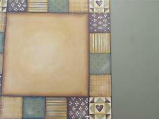 "12""X12"" Scrapbook Paper Double Sided Patchwork Green & Tan"