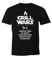 Herren T-Shirt Grill Wars mit Spruch Fun-Shirt Moonworks®