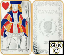 2008 'Jack of Hearts' Playing Card Colorized Proof $15 Silver (12330) (OOAK)