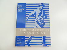 DIRECT MARKETING MANAGEMENT MARY LOU ROBERTS PAUL D BERGER INT ED 1989 TEXTBOOK