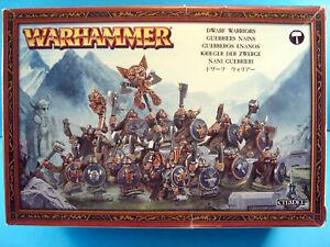 GAMES WORKSHOP WARHAMMER BOXED DWARF WARRIORS