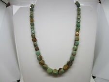 """ESTATE JAY KING STERLING GRADUATED TURQUOISE FACETED BEADED NECKLACE 18-21"""""""