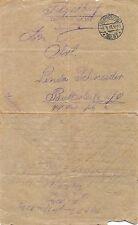 Feldpostbrief Landw. Infanterie Regiment 104. I. Bataillon 1916 nach Butterleite