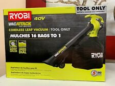 RYOBI Cordless Leaf Vacuum/Mulcher 40-Volt Lithium-Ion (Tool Only) Brand New
