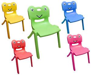 Stackable Kids Plastic Chairs Childrens Indoor Outdoor Garden Club 60KG Capacity