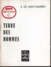 PEC - A. de Saint-Exupery - TERRE DES HOMMES  - Fiche de lecture