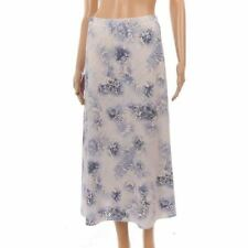 Calf Length Linen Casual Floral Skirts for Women