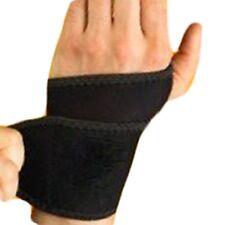 Ajustable Palm Muñeca Correa De Mano A Mano Con Soporte de abrazadera de soportes de Neopreno Negro