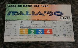 le Ticket )) ITALIA V ENGLAND - BARI - 3/4 finale World Cup 1990