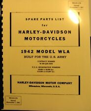1942 Harley-Davidson WLA Military Parts Price List Motorcycle Solo TM10-1174 FSH