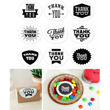 45x THANK YOU Kraft Sticker Paper Seal Stickers Cooking Package Label