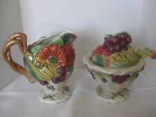Fitz & Floyd Fruit Design Cream & Sugar Set (4 pieces) ~ **Gift Idea