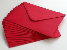 12 quality Scarlet Red coloured envelopes