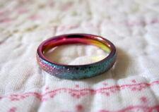 Rainbow Ring Thin Steel Band~Wedding / Promise / Engagement~Size's 5-6-7-8