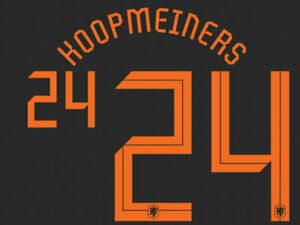 2020 2021 OFFICIAL NETHERLANDS AWAY NAME SET KOOPMEINERS 24 = PLAYER SIZE
