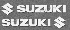 2 Aufkleber für Tank R&L 200mm Suzuki-Racing Motorrad 30 Farben S010