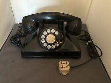 Classic Deco Rotary Dial Northern Electric Telephone No. 1 Black Bakelite Canada