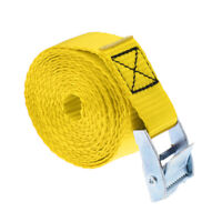 5m 25mm Roof Rack Cam Buckle Lashing Tie Down Strap for Kayak SUP, Yellow