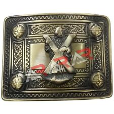 Scottish Kilt Belt Buckle ST Andrew 4 Dome Mirror Design/Celtic Kilt Belt Buckle