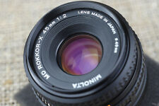 Minolta -X 45mm 67mm f2 Lens E-Mount Sony NEX 3 5N 6 A6000 Alpha A 7 camera body