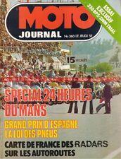 MOTO JOURNAL  360 Test BPS SWM TL 320 PEUGEOT SX 8 SX8 GP d'Espagne Le Mans 1978