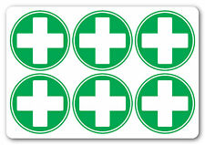 FIRST AID CROSS | Circle | health and safety signs | Sticker, warning, safety