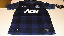 Manchester United 2013-14 Soccer Away Jersey Short Sleeves M Boys Kids