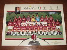 CARTOLINA POSTCARD CALCIO GIGANTE MILAN 1990/91