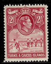 More details for turks & caicos islands gvi sg203, 2s deep rose-carmine, m mint. cat £48.